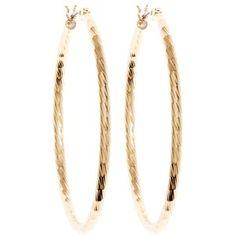 Brooks Brothers Gold Textured Hoop Earrings