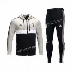 c01c9e526 2018-19 Juventus Black White Jacket Uniform With Hat-CS. Juventus SoccerSoccer  JerseysThailandBlack ...