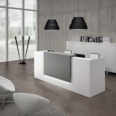 Modular reception desk Z2 by Quadrifoglio Sistemi d'Arredo design Centro Design Quadrifoglio