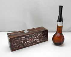 Vintage Avon Glass Pipe Full Tai Winds After Shave 2 fl oz - Full, New in Box by SpatstoSpursVintage on Etsy