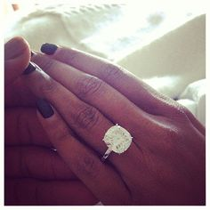 Gabrielle Union took to Instagram to show off the massive rock fiancé Dwyane Wade gave her to seal the deal. The actress gave us another closeup of her engagement ring when she cheered for Dwyane at the Lakers game in LA on Christmas Day.  Source: Instagram user gabunion