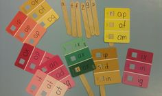 Paint chips seem to be the new fad for crafts and classroom learning tools. I spotted some atLowes'that have a window. We used these w...