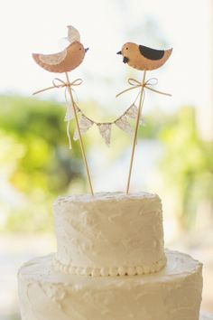 love birds wedding cake - Google Search
