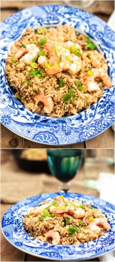 Dirty rice with shrimp