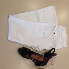 Gap white flair jeans Gap ultra low rise flare stretch jeans, size 6 perfect condition nice and white. Perfect for spring and summer.  Bundle and save GAP Jeans Flare & Wide Leg