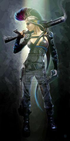 Shadowrun - Svetlana by echo-x.deviantart.com on @deviantART