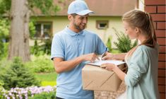 Photo about Young courier holding a parcel, women signing a delivery form. Image of cardboard, home, profession - 79371297 Courier Jobs, Courier Service, E Commerce, Delivery Driver Jobs, Newspaper Delivery, Amazon Delivery, Hours Of Service, Temporary Work, Sign Up Page