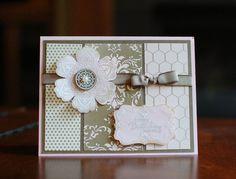 super pretty monochromatic flower card