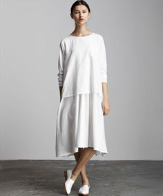 White In the Shadows Dress by Kow Tow