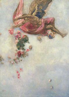 Odilon Redon (French, 1840-1916) La Chute d'Icare. Oil on canvas