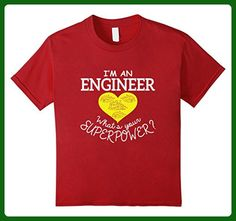 Kids I'm An Engineer What's Your Superpower Funny T-Shirt 10 Cranberry - Careers professions shirts (*Amazon Partner-Link)