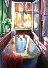 For the ultimate experience in art South African Artists, Vintage Bathrooms, Bathroom Art, Art Gallery, Sweet Home, Alice, Artworks, Interiors, Oil