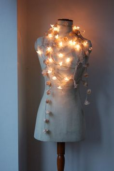 My fairy light strewn tailors dummy  023 by skyblueseaskybluesea, via Flickr