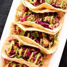 Crispy Cauliflower Tacos HealthyAperture.com