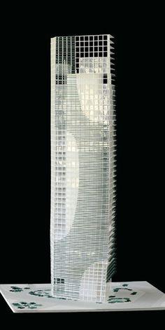 Architectural Model - Market Street Tower, Singapore -Toyo Ito