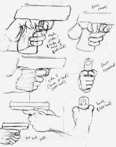Como Desenhar Mangá: Pistolas