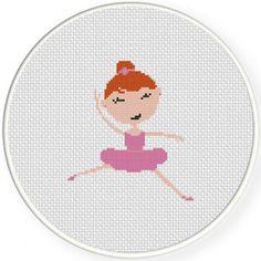 Handmade Unframed Ballerina Cross Stitch by CustomCraftJewelry