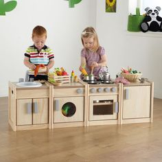 Toddler toys kitchen play set Wooden play Kitchen Units for kids - Spielzeug Toddler Kitchen Set, Kitchen Sets For Kids, Kids Wooden Kitchen, Diy Play Kitchen, Play Kitchens, Kitchen Furniture, Kids Furniture, Kitchen Units, Kitchen Island