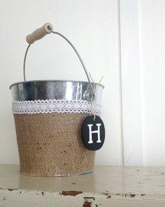 Rustic Wedding Flower Girl Bucket Basket already has an H on it :) Rustic Romance Wedding, Rustic Wedding Flowers, Farm Wedding, Dream Wedding, Wedding Stuff, Happy Wedding Day, Sister Wedding, Wedding Wishes, Cute Wedding Ideas