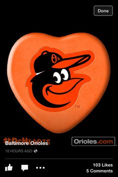 Happy Valentine's Day from the BALTIMORE ORIOLES