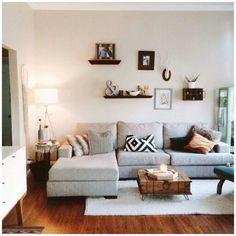 #Decoracion del salón con #sofa en gris #decor