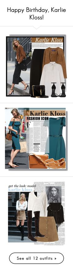 """Happy Birthday, Karlie Kloss!"" by polyvore-editorial ❤ liked on Polyvore featuring happybirthday, karliekloss, Whistles, Violeta by Mango, STELLA McCARTNEY, Yves Saint Laurent, GetTheLook, Model, celebstyle and photoshootstyle"