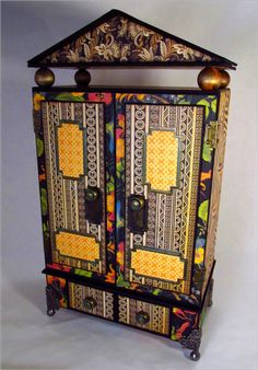 This altered Tropical Travelogue Tag Armoire is by @Jim Hankins, the Gentleman Crafter, and it is a work of art! Click on the photo to get to the tutorial to make your own! #graphic45 #tutorials #DIY