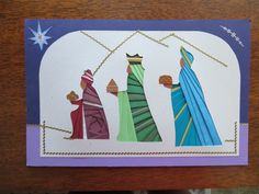 3 wise men from Silvia Griffin pattern-  card by Cindy M. Hayes