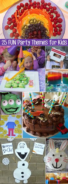 25 Fun Party Theme Ideas for Young Children. Lots of useful links for 25 popular party themes.