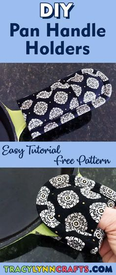 Pan Handle Holders with an Extra Feature! - Tracy Lynn Crafts Sewing Hacks, Sewing Tutorials, Sewing Tips, Craft Tutorials, Craft Ideas, Sewing Ideas, Diy Ideas, Sewing Patterns Free, Free Pattern