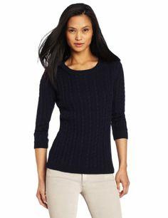 525 America Women's Cable Crew Neck Sweater