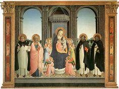 『フィエーゾレの祭壇画』(1424年) サン・ドミニコ教会(フィエーゾレ)