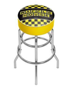 Trademark Gameroom Los Angeles Lakers Chrome Upholstered Swivel Bar Stool at Lowe's. This officially licensed chrome bar stool will provide you and your guests with a comfortable seat as well as a stylish accent to your game room, garage Padded Bar Stools, Chrome Bar Stools, Cool Bar Stools, Swivel Bar Stools, Stool Height, Chairs For Small Spaces, Tubular Steel, Vinyl Siding, Bar Furniture