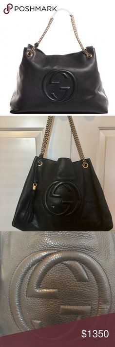 💕Beautiful Large Gucci Soho Bag Beautiful large Gucci Soho Bag. They no longer make this size. Outside is in excellent condition. Inside good condition, normal wear. Gucci Accessories