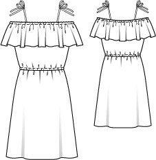 Spaghetti Strap Ruffle Dress 07/2014 #119 – Sewing Patterns | BurdaStyle.com