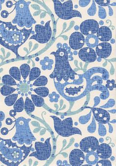 at first, I thought it was fabric. Fabric Wallpaper, Wall Wallpaper, Pattern Wallpaper, Textile Patterns, Print Patterns, Flower Patterns, Textiles, Chinese Prints, Scandinavian Wallpaper