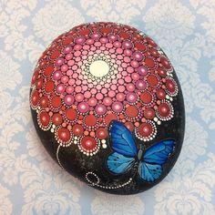 Butterfly Mandala Stone Large