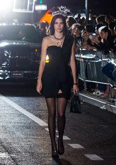 Bella Hadid and Kendall Jenner at Alexander Wang's runway | Daily Mail Online
