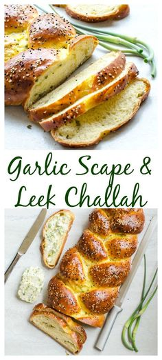 Garlic Scape and Leek Challah