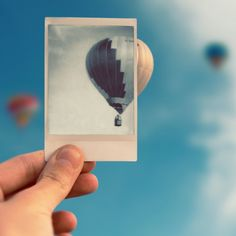 Only knowing the past we can understand the present and then flying towards the future like a balloon