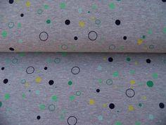 Jersey grau mit Kreisen von *Stoffmonster* auf DaWanda.com
