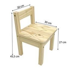 Kit Tiny Children's Table with 2 Tadah Natural Highchairs! Kit Tiny Children's Table with 2 Tadah Natural Highchairs! Pallet Chair, Diy Chair, Pallet Furniture, Plywood Furniture, Modern Furniture, Furniture Design, Kids Table Chair Set, Palette Deco, Toddler Chair
