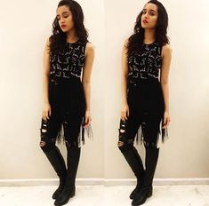 Shraddha Kapoor's sparkling fashion saga continues with Rock On 2,  - http://www.titoslondon.in/shraddha-kapoors-sparkling-fashion-saga-continues-with-rock-on-2/
