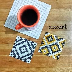 Coasters hama beads by  pixo_art