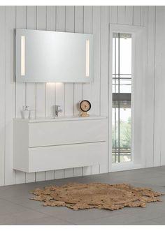 Foss Bad Variant 120 cm hvit matt Vanity, Lighting, Bathroom Ideas, Home Decor, Lily, Dressing Tables, Powder Room, Decoration Home, Room Decor