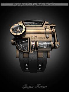 Sci-Fi Steampunk Concept Watch Design
