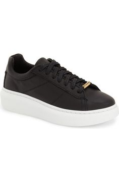 Topshop 'Toulouse' Leather Sneaker (Women) available at #Nordstrom