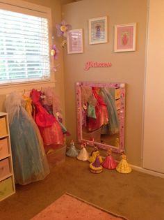 Little girls Princess dress up area
