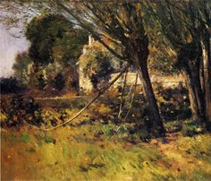 The Athenaeum - ROBINSON, Theodore American Impressionist (1852-1896)_Willows (also known as Enn Picardie) - 1891