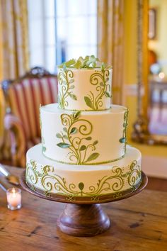 Pretty, simple wedding cake for a fresh, spring wedding. - also I think most of us are a little overweight, so I am sharing this... I saw this on TV and I have lost 26 pounds so far pretty quickly too http://hcgtrim4summer.com